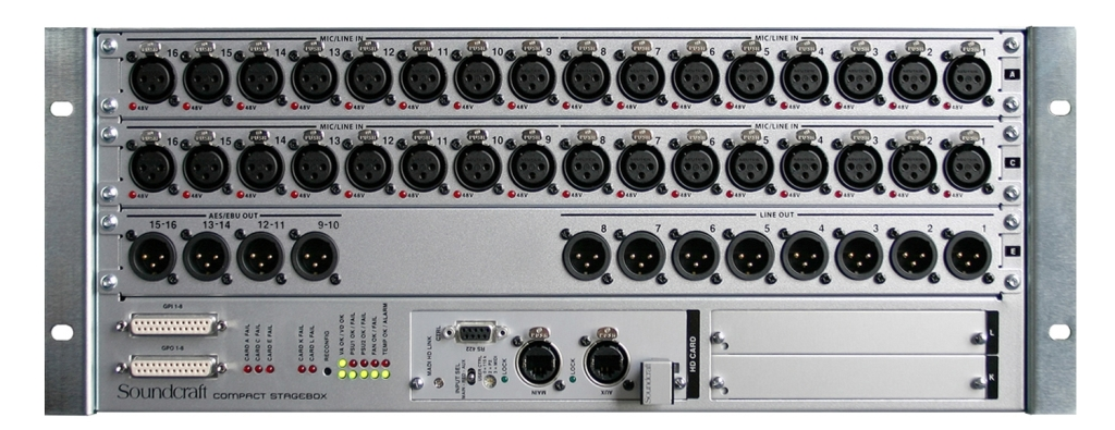 Compact Stage box 32/16 Cat5