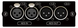 AES 4in, 4out on XLR